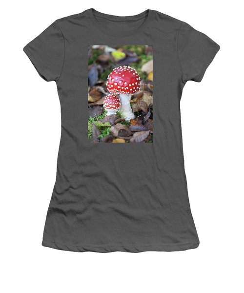 Toadstools In The Woods Vi Women's T-Shirt (Athletic Fit)