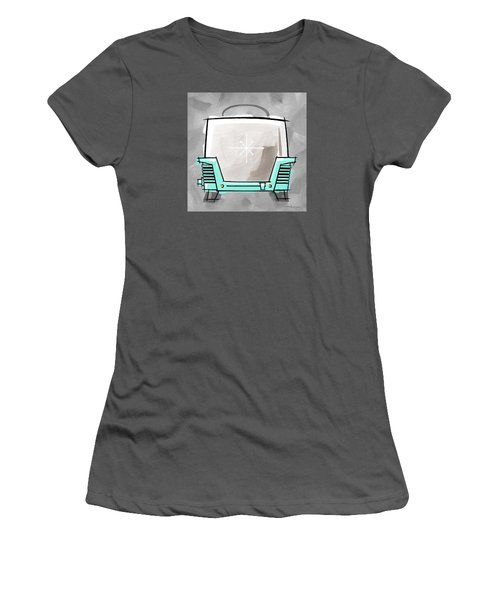 Toaster Aqua Women's T-Shirt (Athletic Fit)