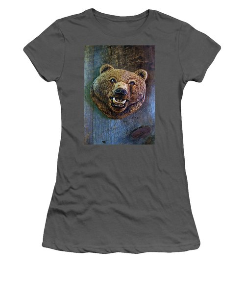 Women's T-Shirt (Junior Cut) featuring the pyrography Together Again by Ron Haist