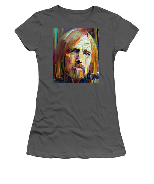 Tom Petty Tribute Portrait 4 Women's T-Shirt (Athletic Fit)