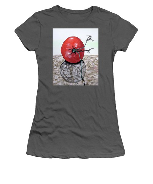 Tomato On Marble Women's T-Shirt (Athletic Fit)