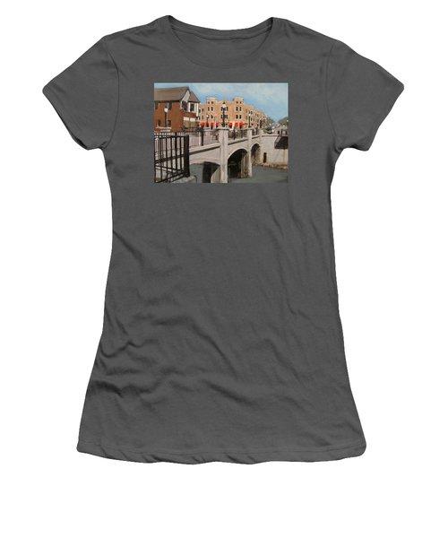 Tosa Village Bridge Women's T-Shirt (Athletic Fit)