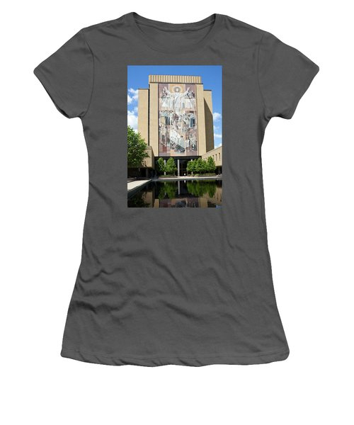 Touchdown Jesus Mural Women's T-Shirt (Athletic Fit)