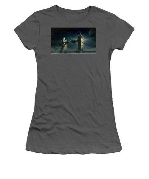 Tower Bridge In Moonlight Women's T-Shirt (Athletic Fit)