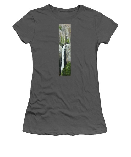 Towering Falls Women's T-Shirt (Athletic Fit)