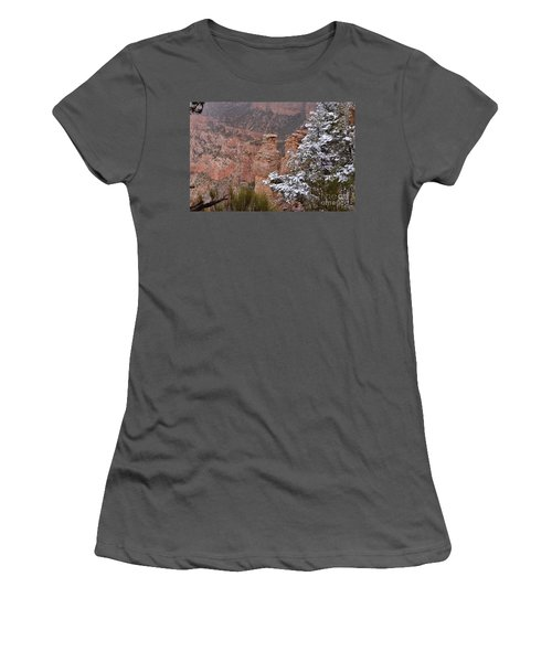 Towers In The Snow Women's T-Shirt (Junior Cut) by Debby Pueschel