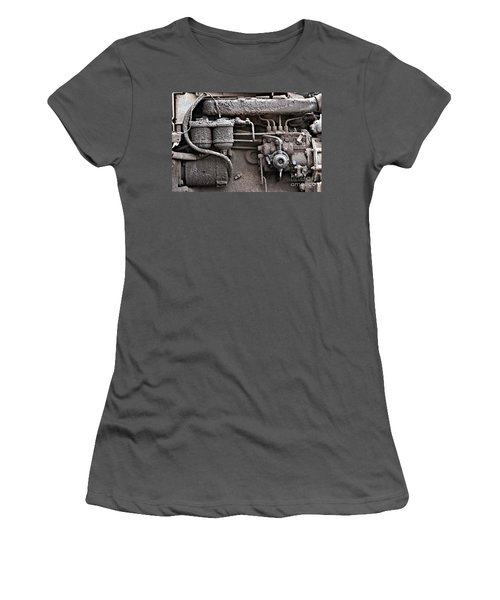 Women's T-Shirt (Athletic Fit) featuring the photograph Tractor Engine II by Stephen Mitchell