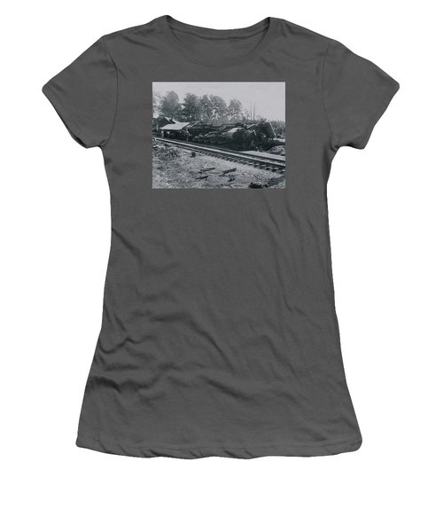 Train Derailment Women's T-Shirt (Athletic Fit)
