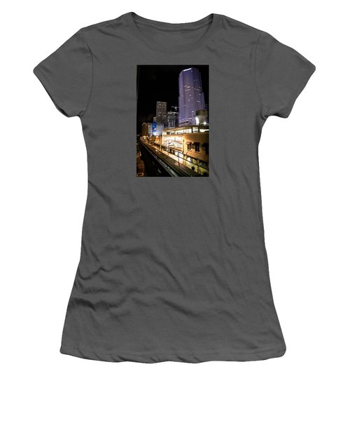 Train Station Women's T-Shirt (Athletic Fit)
