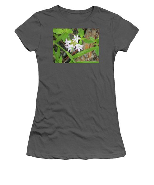 Transparent Flowers Women's T-Shirt (Athletic Fit)