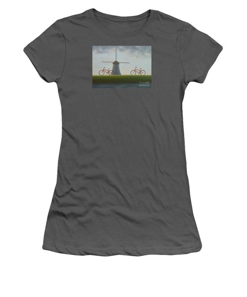 Traveling In Holland Women's T-Shirt (Athletic Fit)