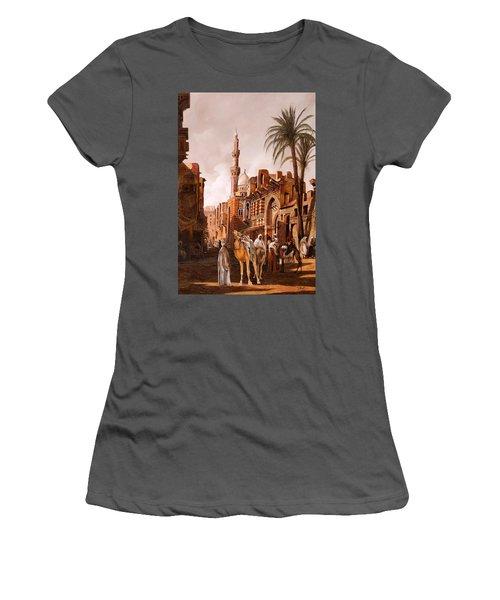 tre cammelli in Egitto Women's T-Shirt (Athletic Fit)