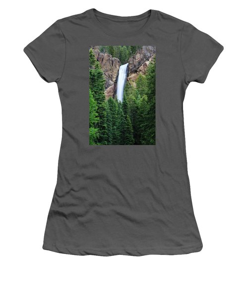 Women's T-Shirt (Athletic Fit) featuring the photograph Treasure Falls by David Chandler