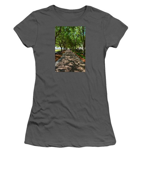 Tree Lined Path Women's T-Shirt (Junior Cut) by Debra Martz