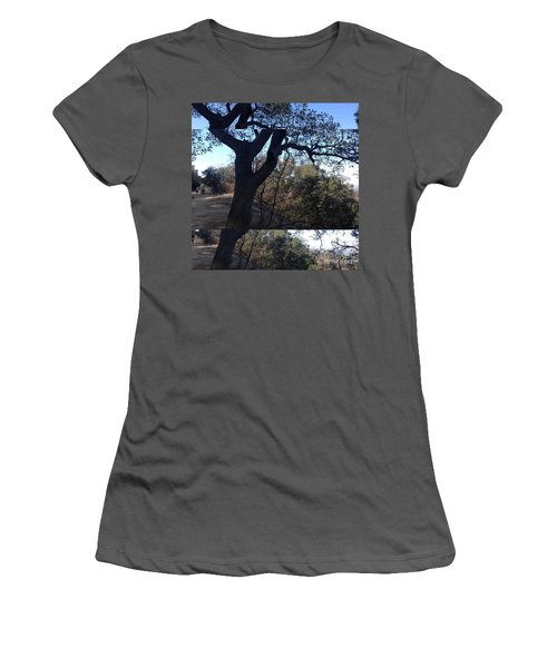 Tree Silhouette Collage Women's T-Shirt (Junior Cut) by Nora Boghossian