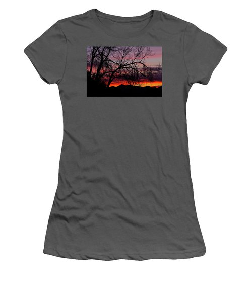Tree Silhouette Women's T-Shirt (Junior Cut) by Paul Marto