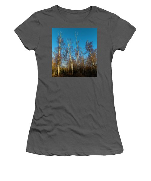 Trees And Blue Sky Women's T-Shirt (Athletic Fit)