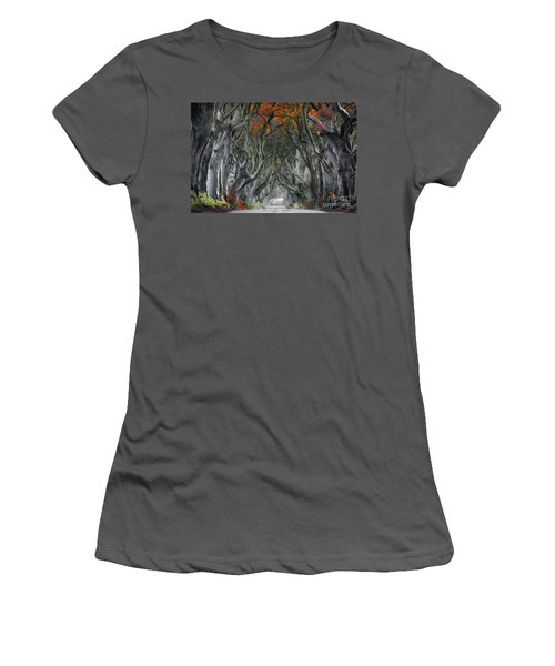 Trees Embracing Women's T-Shirt (Athletic Fit)