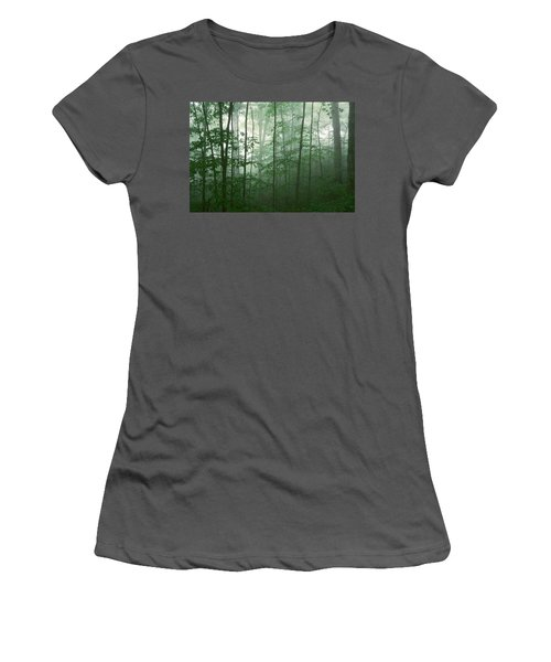 Trees In The Mist Women's T-Shirt (Athletic Fit)