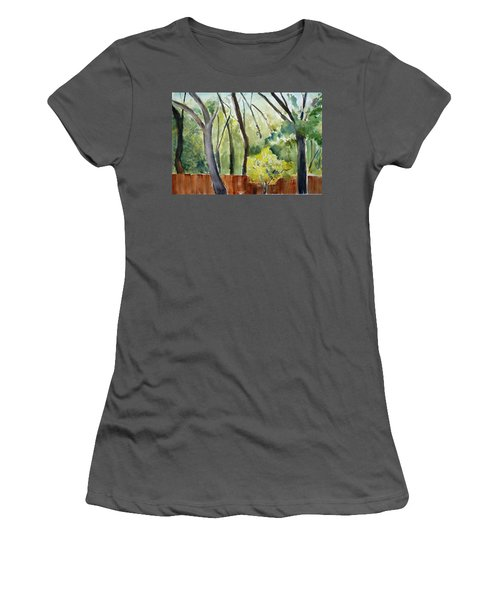 Trees1 Women's T-Shirt (Athletic Fit)