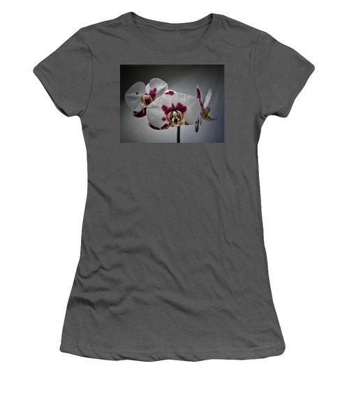 Women's T-Shirt (Junior Cut) featuring the photograph Triplets by Karen Stahlros