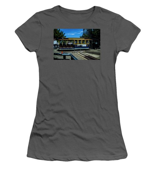 Trolley Car Turn Around Women's T-Shirt (Athletic Fit)