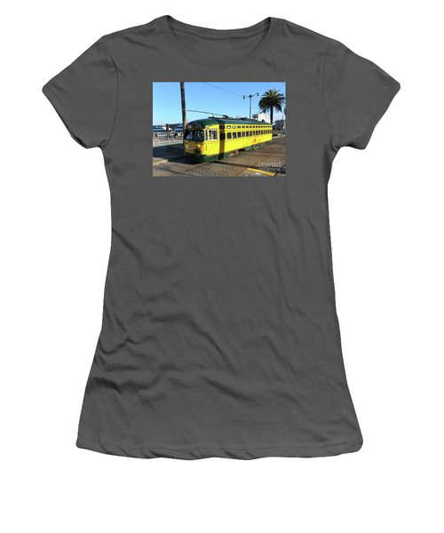 Women's T-Shirt (Junior Cut) featuring the photograph Trolley Number 1071 by Steven Spak