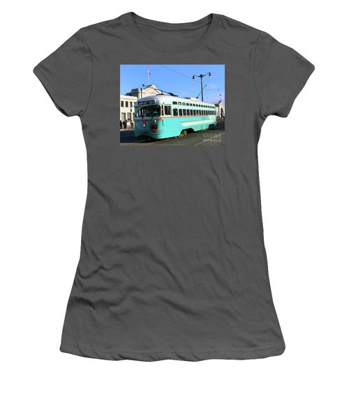 Women's T-Shirt (Junior Cut) featuring the photograph Trolley Number 1076 by Steven Spak