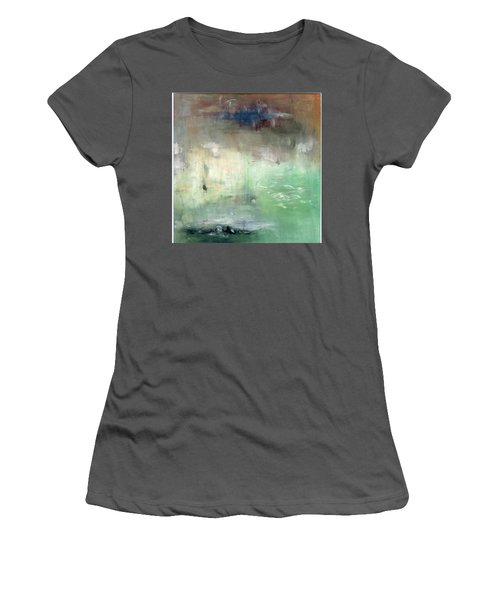 Women's T-Shirt (Junior Cut) featuring the painting Tropic Waters by Michal Mitak Mahgerefteh