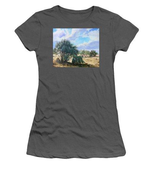 Tropical Orange Grove Women's T-Shirt (Junior Cut) by AnnaJo Vahle