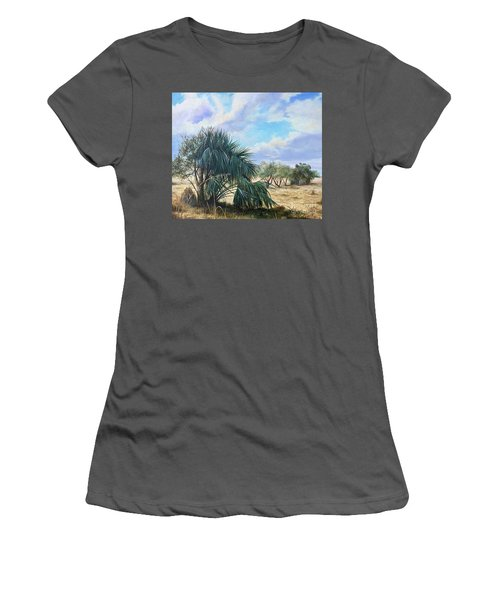 Tropical Orange Grove Women's T-Shirt (Athletic Fit)
