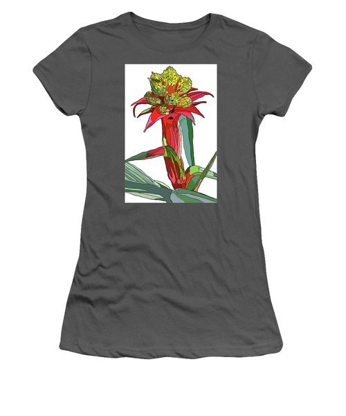 Tropical Reds Women's T-Shirt (Junior Cut) by Jamie Downs