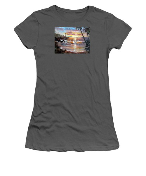 Tropical Sunset Women's T-Shirt (Junior Cut) by Lee Piper