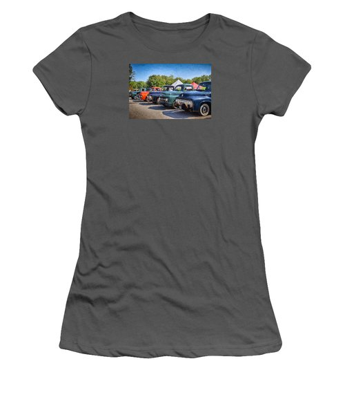 Trucks On Display Women's T-Shirt (Athletic Fit)