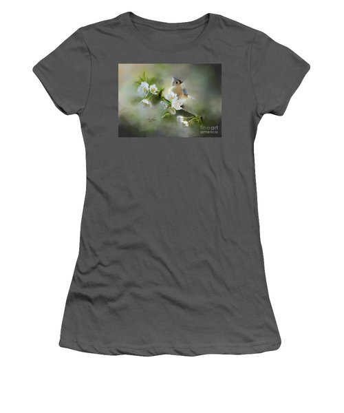 Tufted Titmouse Women's T-Shirt (Athletic Fit)