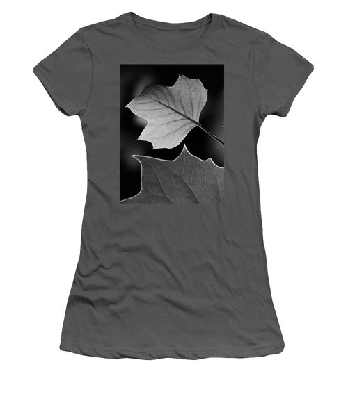 Tulip Tree Leaves Competing For Light Women's T-Shirt (Junior Cut) by Jane Ford