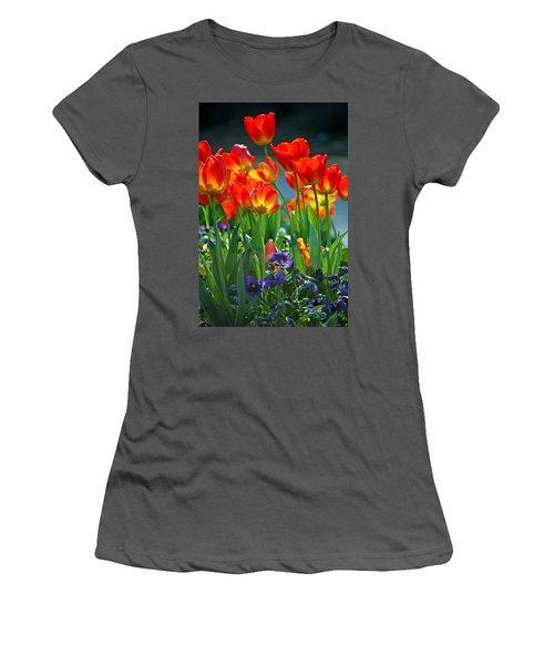 Tulips Women's T-Shirt (Junior Cut) by Robert Meanor