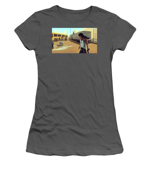 Turf War Women's T-Shirt (Athletic Fit)
