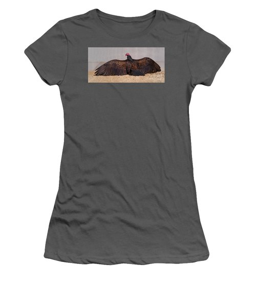 Turkey Vulture Spreading Wings Women's T-Shirt (Athletic Fit)
