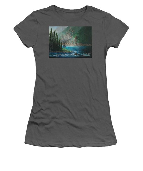 Turquoise River Women's T-Shirt (Athletic Fit)