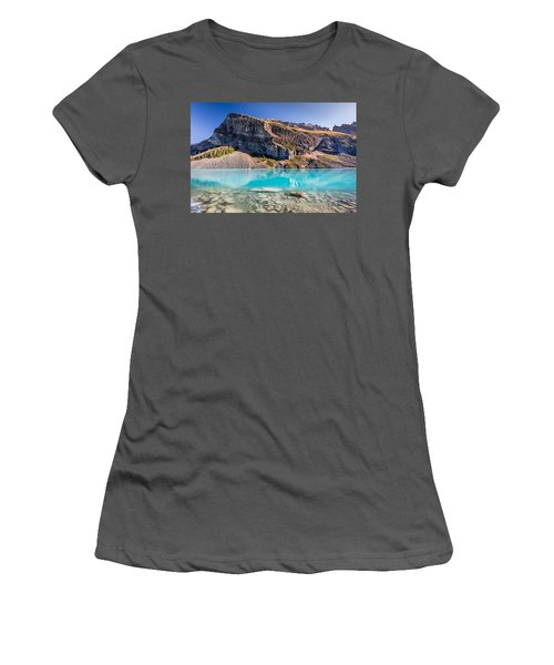 Turquoise Water Of The Scenic Lake Louise Women's T-Shirt (Junior Cut) by Pierre Leclerc Photography