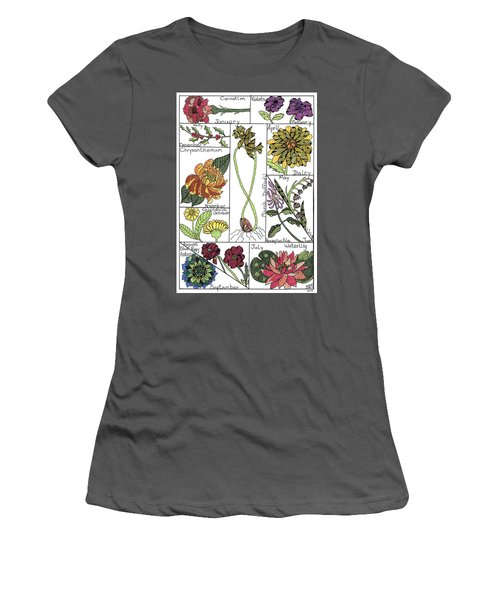 Twelve Month Flower Box Women's T-Shirt (Athletic Fit)