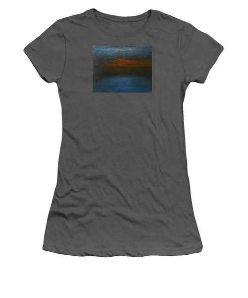 Women's T-Shirt (Junior Cut) featuring the painting Twilight by Jane See
