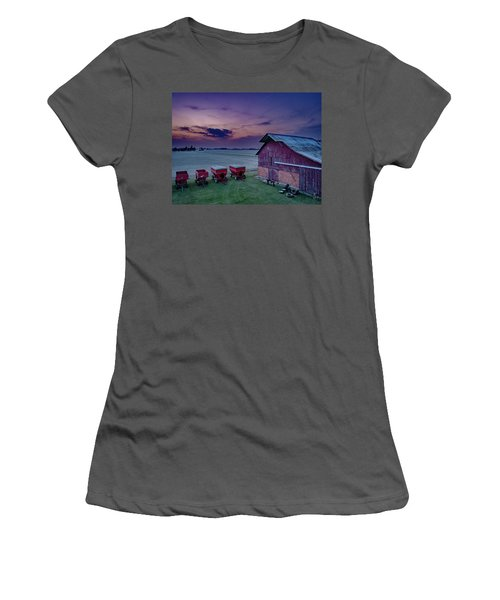 Twilight On The Farm Women's T-Shirt (Athletic Fit)
