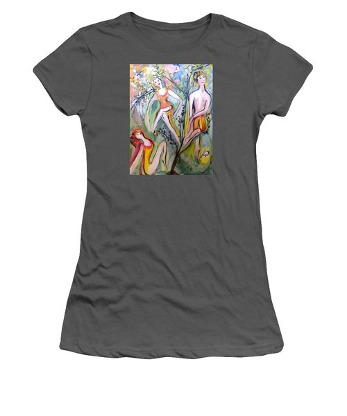 Twists And Turns Women's T-Shirt (Junior Cut) by Judith Desrosiers