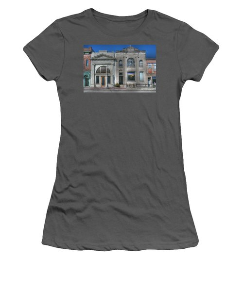 Two Banks Women's T-Shirt (Junior Cut) by David Bearden
