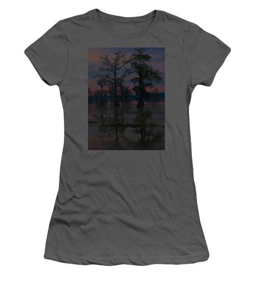 Two Cypress At Dawn Women's T-Shirt (Junior Cut) by Kimo Fernandez
