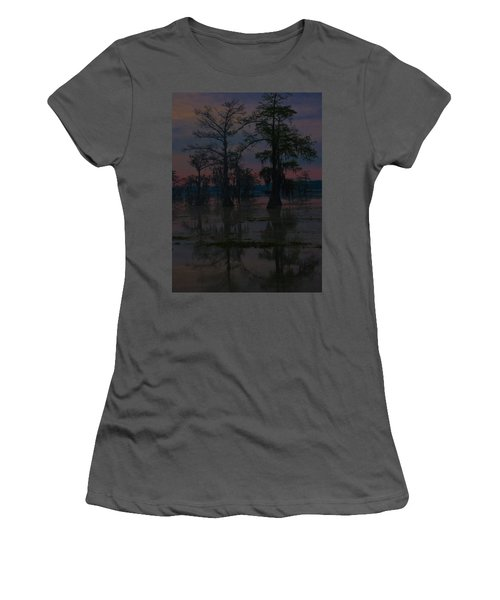 Two Cypress At Dawn Women's T-Shirt (Athletic Fit)