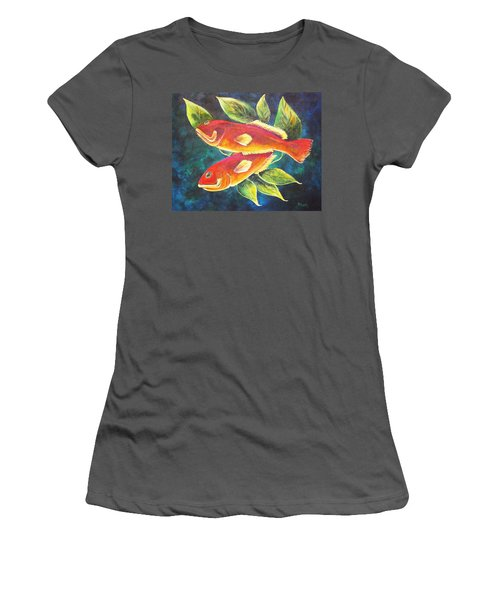 Two Fish Women's T-Shirt (Athletic Fit)