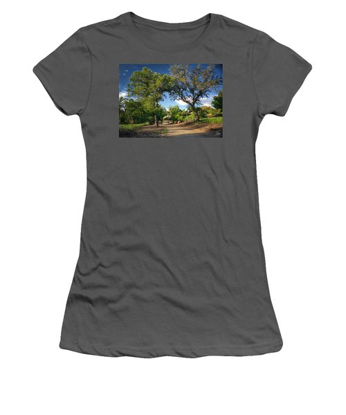 Two Old Oak Trees Women's T-Shirt (Junior Cut) by Endre Balogh